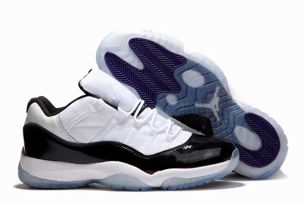 11 retro low concord white dark concord black